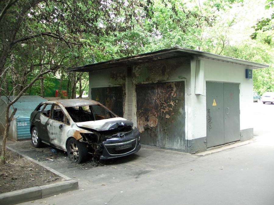 сгорела mazda cx7